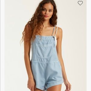 Denim Billabong Open Side Romper